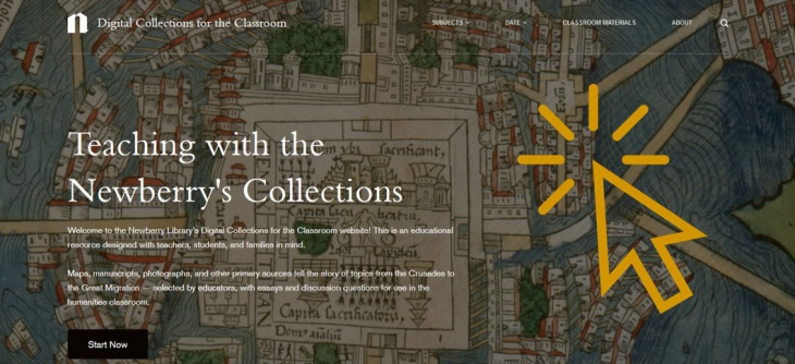 Digital Collections for the Classroom, homeapge