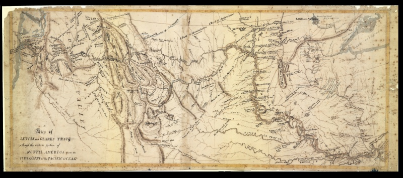 Map Of America Lewis And Clark.A Map Of Lewis And Clark S Track Across The Western Portion Of