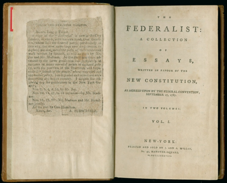 Essay Paper Writing The Federalist Essays Originally Appeared In American Newspapers They Were  Collected And Printed In Book Form In  The Newberry Has Several First   Pay For Your Assignment also Sample Essay High School The Us Constitution Aka A Mess Of Pottage  Newberry Eb5 Business Plan Writers