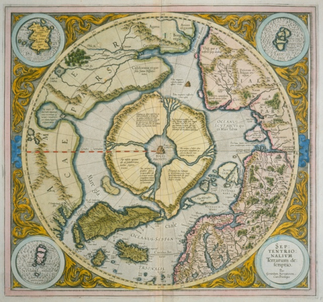 Maps travel and exploration newberry gerhard mercator septentrionalivm terrarum descriptio 1595 fitzgerald polar map 22 stopboris Images