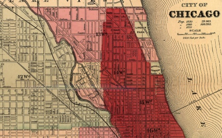 U 98 1632 City Of Chicago Gaylord Watson Chicago Fire Map Jpg