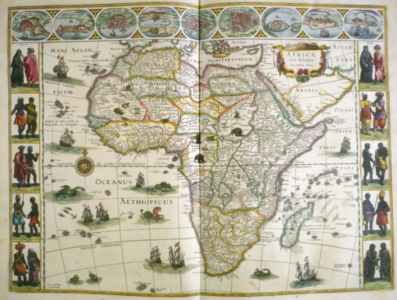 map of africa from le thtre dv monde 1640 43 case oversize g 1007 1