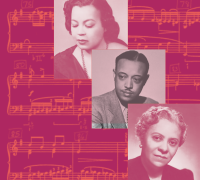 Top to bottom: Margaret Bonds, William Grant Still, and Florence Price