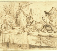 Original illustrations by John Tenniel for Alice in Wonderland by Lewis Carroll, first edition 1865.