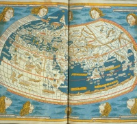 Ptolemy, Cosmographia, World Map, 1482, Newberry Ayer 6 .P9 1482a.