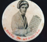 State of Sequoyah political lapel pin, circa 1905.