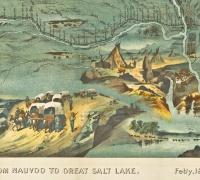 Route of the Mormon Pioneers from Nauvoo to Great Salt Lake, February 1846 - July 1847
