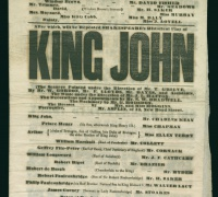 Playbill, 1787, Newberry Midwest MS Theater Collection.