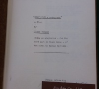 Typescript copy in the Neweberry collection of Moby Dick—Rehearsed, a play by Orson Welles.