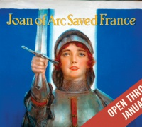 """Joan of Arc Saved France"" poster. Case Wing oversize D522.25 .W67 1914 no. 1"