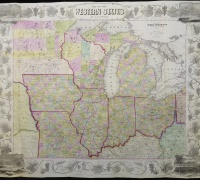 """""""Map of the Western States."""" John M. Atwood, 1853"""