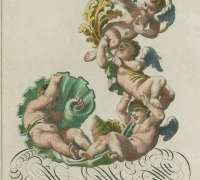 From Ornamental Alphabet with Putti, Newberry Collection sc736, No. 6