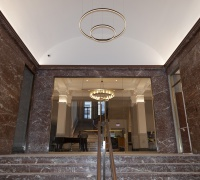 View from the vestibule, looking into the lobby