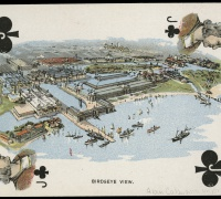 The World's Fair iconography entered the cultural bloodstream through a range of materials, like playing cards.