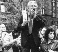 Studs Terkel at the Bughouse Square Debates, 1975