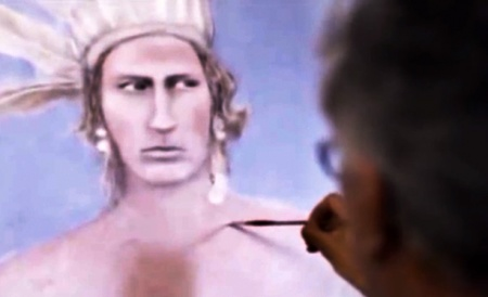 Robert's Paintings, a 2011 film by Mohawk filmmaker Shelley Niro, documents artist Robert Houle's rejection of cultural assimilation and affirmation of his Indigenous ancestry through painting.