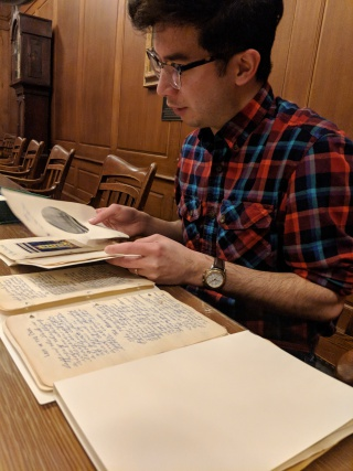 Sam Crews analyzes a diary and scrapbook his grandmother used to document her visits to the Century of Progress World's Fair held in Chicago in 1933.