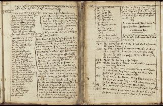 Pages from Gookin's handwritten Account of the Christian Indians of New England