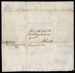President Lincoln Grants Chief Wanzopeah's Request