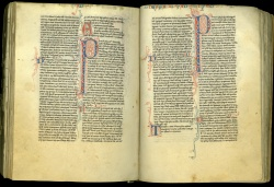 Latin Vulgate Bible, manuscript on parchment copied in France, probably central France, ca. 1250, formerly in the library of the Dominican friars of Clermont-Ferrand