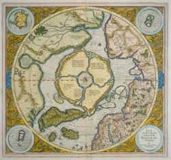 Gerhard Mercator. Septentrionalivm Terrarum descriptio. 1595. Fitzgerald Polar Map 22.