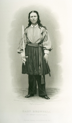 """Katy Brownell in Army Costume"" from the Newberry's collection in The Civil War in Art."