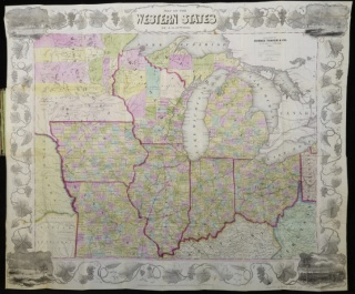 Map of the Western States, 1853
