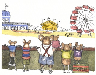 From The Mouse with Wheels in His Head, by Gene Bradbury with illustrations by Victoria Wickell-Stewart