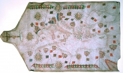 Domenico Oliva, Manuscript portolan chart of the Mediterranean and Black Seas, Naples, 1568. Newberry VAULT oversize Ayer MS map 16.