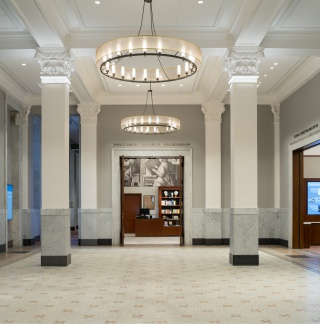 The Newberry's newly renovated lobby.