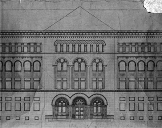 Original building blueprint, as designed by architect Henry Ives Cobb