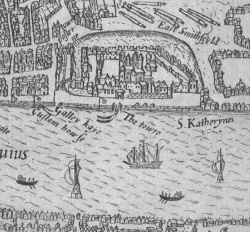 John Norden, Speculum Britanniae, 1593, map of London, Case G45004 .6.