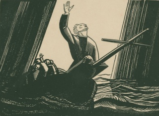 Kent Rockwell illustration for Moby-Dick, 1930