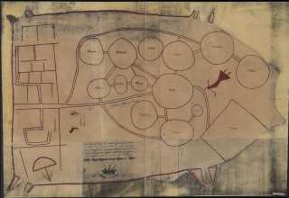 Catawba deerskin map, 18th Century, Image from Library of Congress 2005625337