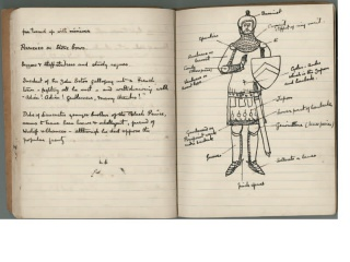 Arthur Conan Doyle's handwritten notes for the White company and Sir Nigel, c. 1905