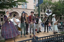 Environmental Encroachment Marching Band at the Bughouse Square Debates, 2013