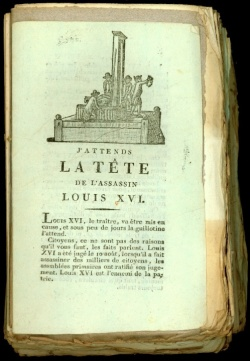 Pamphlet on the execution of Louis XVI