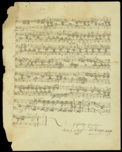 Felix Mendelssohn, Piano music, 1835; Newberry Vault Case MS VM 25 .M53L