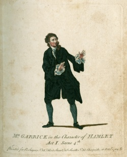 Mr.Garrick in the Charater of Hamlet, 1770; Newberry Case V 181 .239