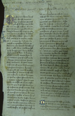 Jacobus de Voragine, La Legende Dorée, trans. into French by Jehann de Vignay, c. 1400. Newberry MS Fragment 68.