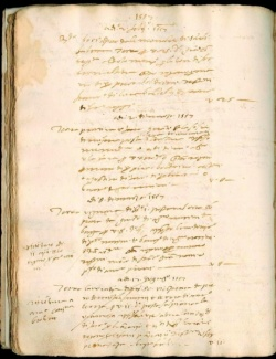 Liber memoralia, 1557, Newberry Barga collection (Angelio family collection), Newberry Case MS 5A 46, f. 24v.