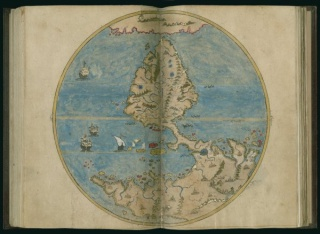 Tarih-i Hind-i garbi, New World, 1600. Newberry Ayer MS 612, map 2.