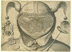 Cordiform World Map in Fool's Cap, Novacco MS 2F 6