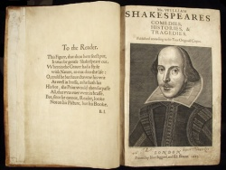 Shakespeare First Folio, 1623, Case YS01