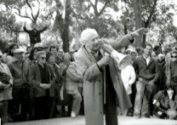 Studs Terkel at the Bughouse Square Debates, 1989