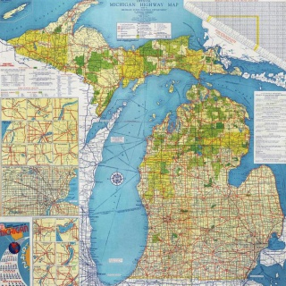 Official State Highway Map of Michigan, 1942