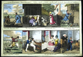 Case W778 .186, English caricatures, Famer's Centenary