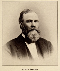 Portrait of Martin Ryerson from Prominent Citizens and Industries of Chicago. folio E 48962 .334