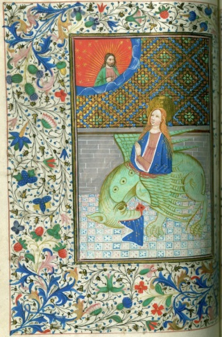 Book of Hours, Use of Salisbury, c. 1455. Newberry Case MS 35, f.29v-30r.