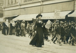 Mother Jones marching in Colorado. c.1910. Midwest MS Kerr, Bx.5, Fl.#79.